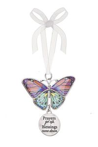 Ganz Blissful Journey Butterfly Ornament - Prayers go up