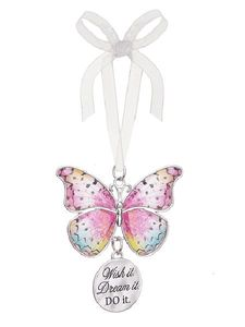Ganz Blissful Journey Butterfly Ornament - Wish It. Dream It. DO It