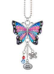 Ganz Enjoy Every Moment Butterfly Car Charms - Free Spirit