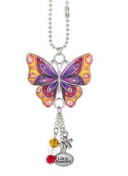 Ganz Enjoy Every Moment Butterfly Car Charms - Life is Beautiful
