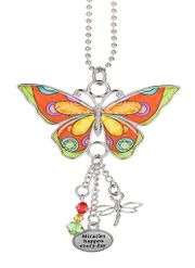 Ganz Enjoy Every Moment Butterfly Car Charms - Miracles Happen Every Day