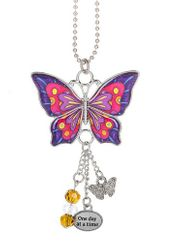 Ganz Enjoy Every Moment Butterfly Car Charms - One Day at a Time
