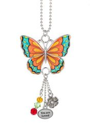 Ganz Enjoy Every Moment Butterfly Car Charms - You are Loved