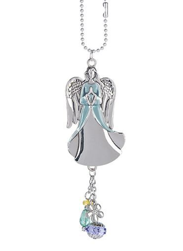 Ganz Car Charms - Angel with Blue Colored Enamel