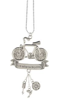 """Ganz Car Charms - Bicycle """"I'd Rather Be Bicycling"""""""