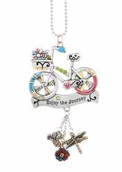 "Ganz Car Charms - Bicycle ""Enjoy the Journey"""