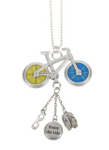 """Ganz Car Charms - """"Fun in the Sun"""" Bicycle with Color"""