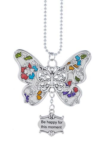 "Ganz Car Charms - Butterfly ""Be happy for this moment"""