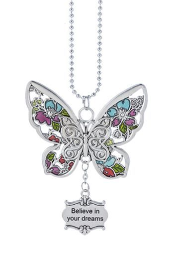 "Ganz Car Charms - Butterfly ""Believe in your dreams"""