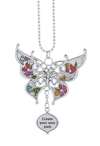 """Ganz Car Charms - Butterfly """"Create your own path"""""""