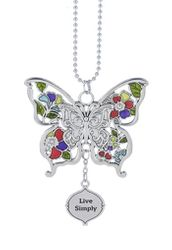 "Ganz Car Charms - Butterfly ""Live Simply"""