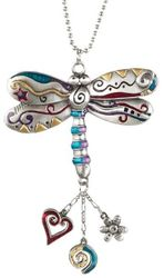 Ganz Car Charms - Color Art Dragonfly