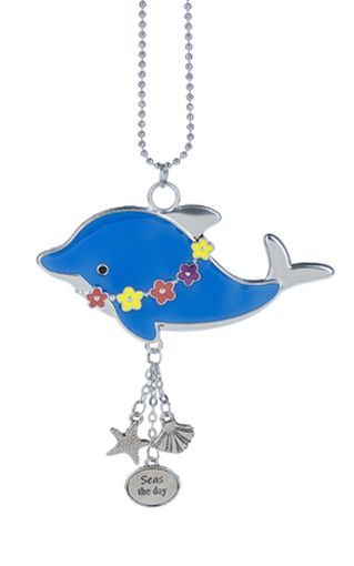 "Ganz Car Charms - Dolphin ""Seas the Day"""