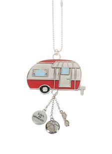 """Ganz Car Charms - """"Fun-in-the-Sun"""" Camper with Color"""