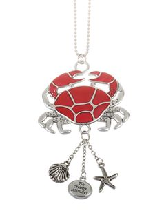 """Ganz Car Charms - """"Fun-in-the-Sun"""" Crab with Color"""