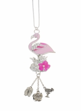 """Ganz Car Charms - """"Fun-in-the-Sun"""" Flamingo with Color"""
