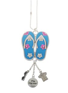 """Ganz Car Charms - """"Fun-in-the-Sun"""" Flipflops with Color"""