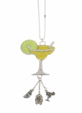 """Ganz Car Charms - """"Fun-in-the-Sun"""" Margarita Charm with Color"""