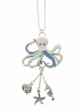 """Ganz Car Charms - """"Fun-in-the-Sun"""" Octopus with Color"""