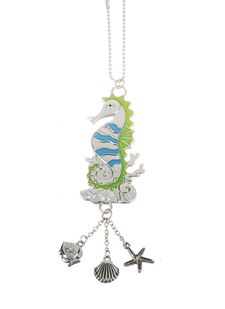 """Ganz Car Charms - """"Fun-in-the-Sun"""" Seahorse with Color"""