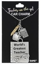 Ganz Teacher on the Go Car Charms - World's Greatest Teacher
