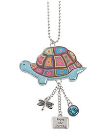 Ganz Car Charms - Happy Thoughts Turtle - Enjoy the Journey