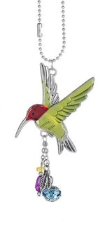 Ganz Car Charms - Hummingbird with Color
