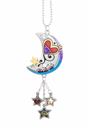 Ganz Car Charms - Moon and Stars with Color