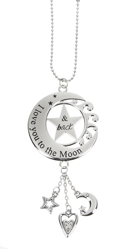 Ganz Car Charms - Moon/Star - I Love You to the Moon & Back