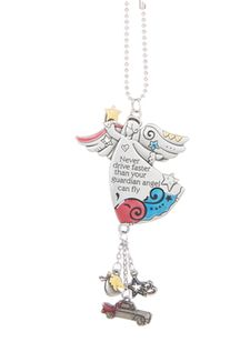 Ganz Car Charms - Never Drive Faster Than Your Guardian Angel