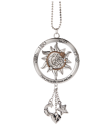 Ganz Spinning Celestial Car Charms - I Love You to the Moon and Back