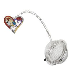 Ganz Charming Tea Infusers - Heart with Color