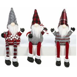 Ganz Christmas Gnomes Shelf Sitters - Set of 3