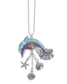 Ganz Car Charms - Dolphin with Color