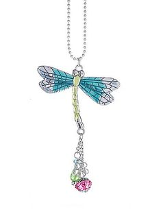 Ganz Car Charms - Dragonfly with Colored Enamel
