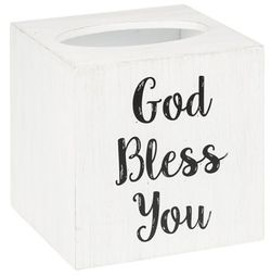 Ganz God Bless You Tissue Box Cover