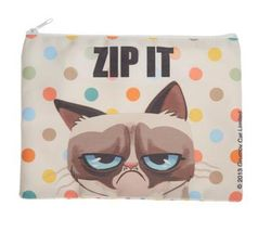 Ganz Grumpy Cat Zipper Top Pouch - Zip It