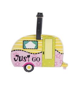 Ganz Happy Camper Luggage Tags - Just Go