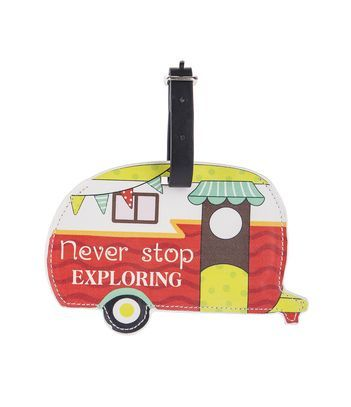 Ganz Happy Camper Luggage Tags - Never Stop Exploring