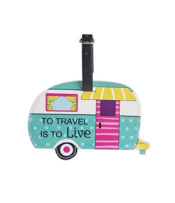 Ganz Happy Camper Luggage Tags - To Travel is to Live