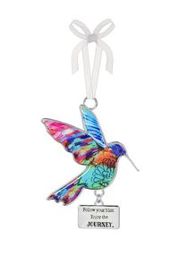 Ganz Hummingbird Ornaments - Follow your bliss. Enjoy the journey