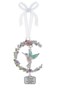 Ganz Hummingbird Ornaments - Friends like you are precious and few