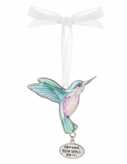 Ganz Hummingbird Ornaments - Spread your wings and fly