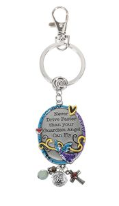 Ganz Key Ring - Never drive faster than your Guardian Angel can fly