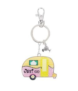 Ganz Key Rings - Happy Camper Just Go