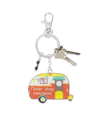 Ganz Key Rings - Happy Camper Never Stop Exploring