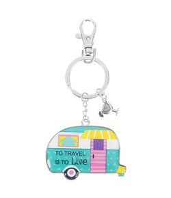 Ganz Key Rings - Happy Camper To Travel is to Live