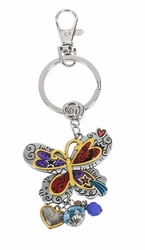 Ganz Key Rings, Keychains -  Butterfly with Color