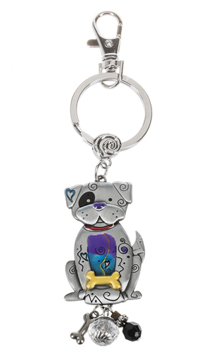 Ganz Key Rings, Keychains - Dog with Color