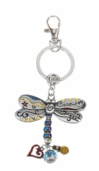 Ganz Key Rings, Keychains - Dragonfly with Color